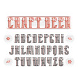 vintage serif font with decoration vector image