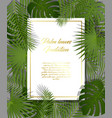 white paper on green summer tropical background vector image