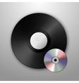 Realistic music gramophone vinyl LP record vector image