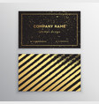 golden business card with brush vector image