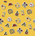 colored wild west concept icons pattern vector image vector image