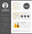 simple profile dashboard template vector image