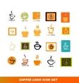 Coffee shop logo icon set vector image