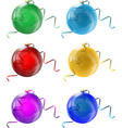 new years glass balls vector image vector image