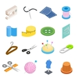 Sewing isometric 3d icon vector image vector image