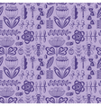 decorative seamless pattern with flowers and bugs vector image