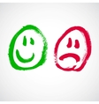 Smiley face cartoon vector image vector image