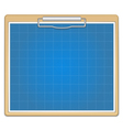 Clipboard with blueprint vector image vector image