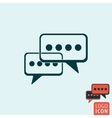 Chat icon isolated vector image