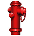 A red hydrant vector image