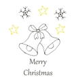 Christmas and new year hand drawn seamles vector image