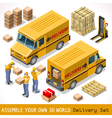 Delivery 06 Infographic Isometric vector image