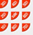Discount labels vector image