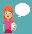 girl sport game volleyball vector image