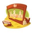 Hen And Eggs Cartoon Concept vector image
