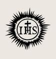ihs catholic church icon vector image