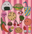 kawaii food vector image