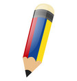 pencil with sharp led and round eraser vector image