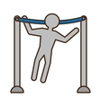 pictogram man workout arms gym fitness vector image