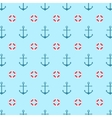 Seamless pattern with a lifeline and anchor vector image