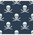 Seamless pattern with jolly roger vector image
