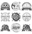 set of nine garage logo vector image
