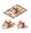 isometric low poly television centre vector image vector image