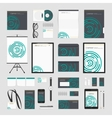 Green circles corporate style template vector image vector image