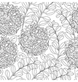 Seamless floral pattern in black and white colors vector image