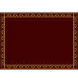 decorative frame with geometric tracery vector image