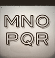 Stylish Retro Font from M to R vector image vector image