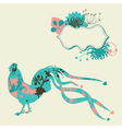 Pastel card with rooster vector image
