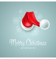 Christmas card with Santa Claus hat vector image