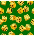 yellow dice seamless background vector image