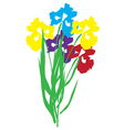 iris vector image