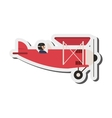 aerobatic or trainer airplane icon vector image