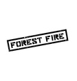 Forest Fire rubber stamp vector image