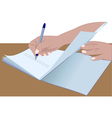 hands signing vector image