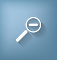 magnifier reduction vector image