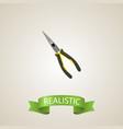 realistic long-pliers element vector image