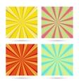 set of sunburst backgrounds vector image