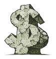 Stone dollar sign vector image