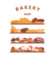 vertical bakery banners baking bread and cakes vector image