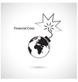 World financial and economic crisis vector image