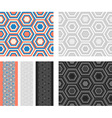 Fashion geometrical pattern with hexagons vector image vector image