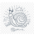 a snail black and white vector image
