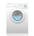 white washing machin vector image vector image