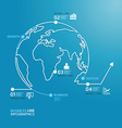 world business diagram line style template vector image vector image