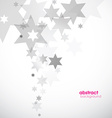 Abstract background template with stars vector image vector image