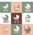 set with Prams vector image
